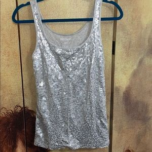 Old Navy sequin dressy tank size M